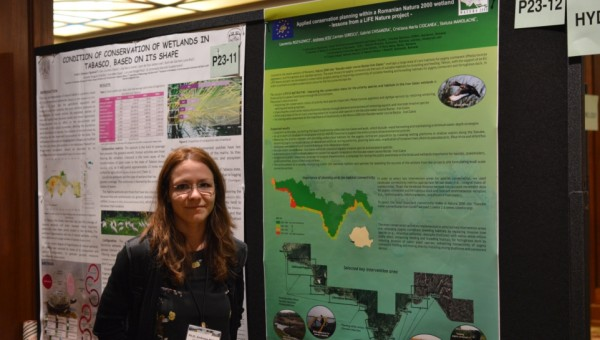 Applied conservation planning within a Romanian Natura 2000 wetland – lessons from a LIFE Nature project, poster prezentat de Andreea Nita